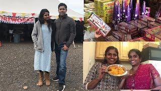 Diwali Thursday Friday vlog | fireworks crackers shopping | Family Traveler  (2019) | USA Tamil VLOG