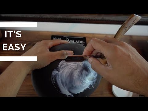 Learn How To Use A Straight Razor On A Balloon | Beginner straight razor tutorial