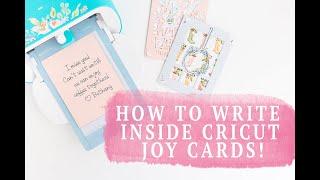 CRICUT JOY CARDS : HOW TO WRITE TEXT INSIDE THE CARD!