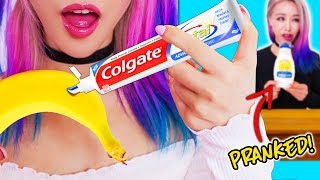 10 Edible Pranks For Back To School! Prank Wars!
