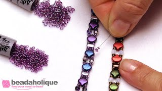 Quick Tip: Using Demi Rounds as Spacers with Ginko Beads