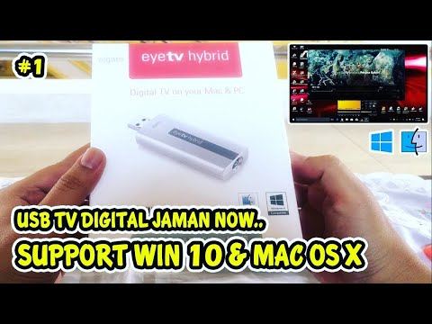 TV Tuner Digital Usb Elgato eyeTV Hybrid WIN 10 [UNBOXING & REVIEW]