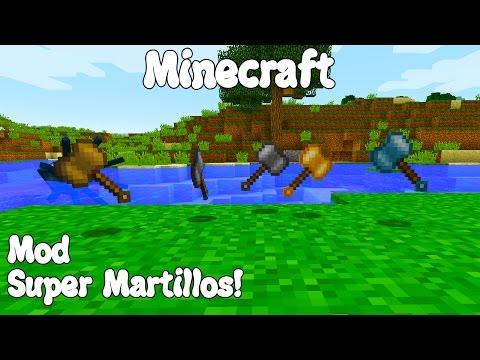 Minecraft 1.11 MOD SUPER MARTILLOS! Hammerz Mod Español!