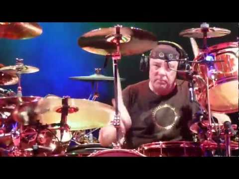 "NEIL PEART Of RUSH Plays ""The Camera Eye"" Missing A TOM At The Ahoy Arena Rotterdam 27-May-2011"