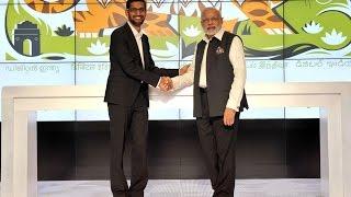 PM Narendra Modi takes tour of Google Headquarters | PMO