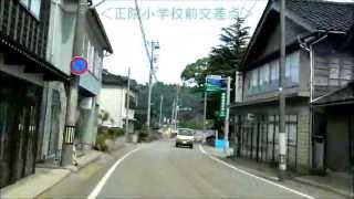車載動画石川県・珠洲市街まちなみめぐり