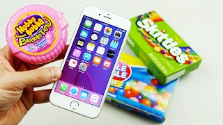 iPhone 6S in Bubble Gum, Coca Cola, and Skittles Candy!