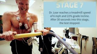 What happens during a cardiac stress test?