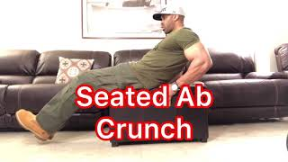 Home Seated Ab Crunches. New York City Style. Abs.