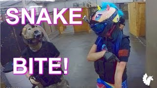 SNAKE BITE! (Unicorn Leah gets an airsoft BB stuck in her arm)