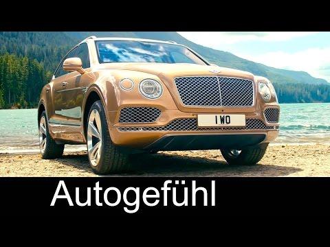 All-new Bentley Bentayga luxury SUV exterior/interior interviews background preview - Autogefühl