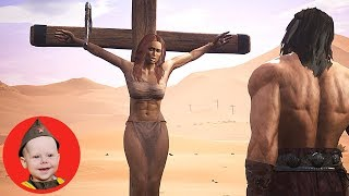 Conan Exiles (2018 PS4 Single Player): Escape the Desert - Scrubber Gets Rescued (Episode 1)