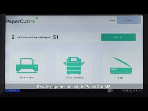 Tutorial de PaperCut MF para los dispositivos multifuncionales Kyocera
