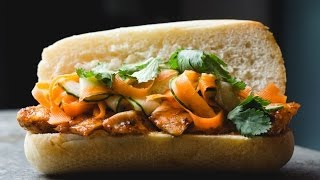 Easy Homemade Chicken Banh Mi   SAM THE COOKING GUY