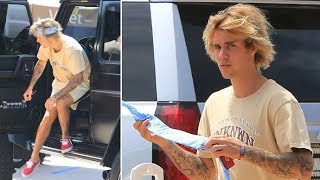 Justin Bieber Tries To Tame His Wild Hair For Lunch At Nobu!