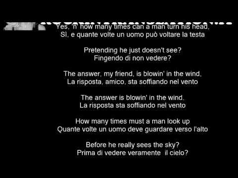 Blowin' In The Wind - Bob Dylan con testo e traduzione