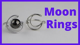 DIY Moon Ring: Day 9 Of The 10-Day Wire Ring Making Challenge