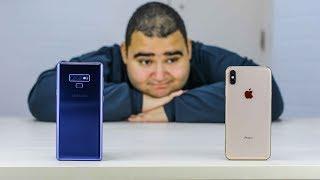 iPhone Xs Max Vs Samsung Galaxy Note 9 | حيرة الموسم وكل موسم !!