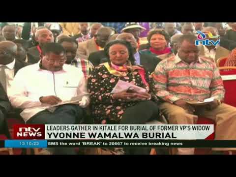 Yvonne Wamalwa burial underway