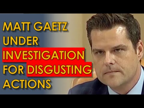 Matt Gaetz under INVESTIGATION for Relationship with 17 year old: TROUBLING