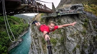 Extreme Bungy Jumping with Cliff Jump Shenanigans! Play On in New Zealand! 4K!