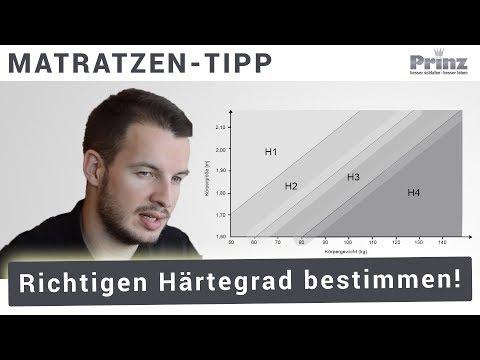 Härtegrad Matratze - Wie wähle ich den richtigen Matratzen Härtegrad aus?