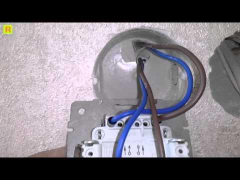 Как подключить крестовой выключатель Lezard