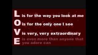L O V E Lyrics