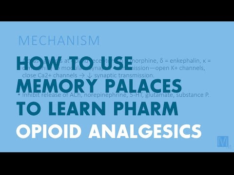 How to Use Memory Palaces in Medical School   Pharmacology: Opioid Analgesics
