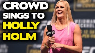 UFC 194: McGregor fan makes entire crowd sing to Holly Holm
