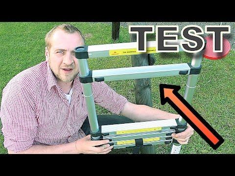 Teleskopleiter Test ⚠️  ( Unfall Gefahr bei falscher Nutzung !!!! )