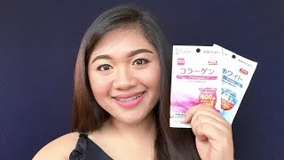 Daiso Beauty White and Collagen Supplement Review   Grace Villanueva