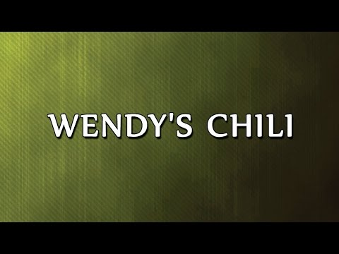 Wendy's Chili | RECIPES | EASY TO LEARN