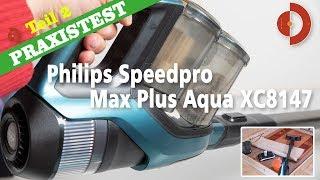Akku-Staubsauger mit Wischmop - Test Philips Speedpro Max Plus Aqua XC8147 [Akkustaubsauger Test]