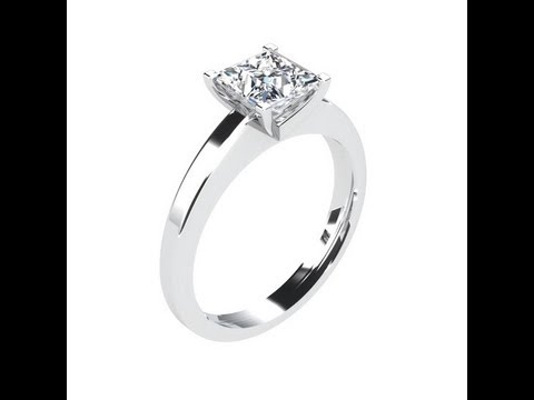 solitaire diamant princesse