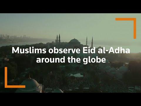 Muslims observe Eid al-Adha around the world