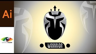 Adobe Illustrator Tutorial Warrior Mask or Gladiator Helmet Design