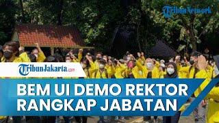 BEM UI Gelar Aksi Demo Menuntut Pencabutan Statuta Rektor Rangkap Jabatan