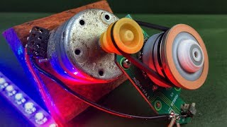 New Electric Free Energy Generator Using DC Motors (Dynamo) With Light Bulb At Home