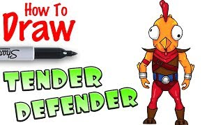 how to draw tender defender fortnite - fortnite how to draw skins