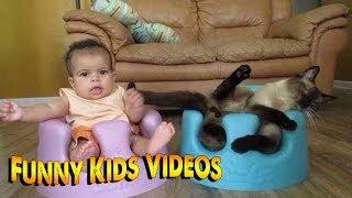 СМЕШНЫЕ ДЕТИ - ПРИКОЛЫ С ДЕТЬМИ! Попробуй не засмеяться! Смешные Видео Детей №63 Март
