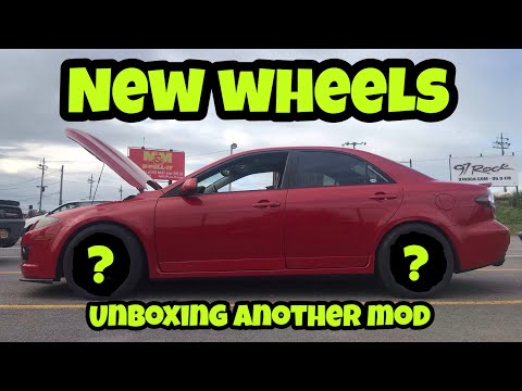 MAZDASPEED 6 GETS NEW WHEELS AND TIRES FOR DRAG RACING !!! Unboxing More Parts For The Car !