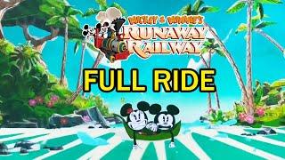 Mickey & Minnie's Runaway Railway POV FULL RIDE