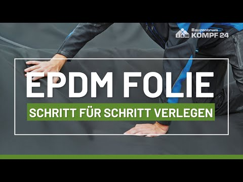 Anleitung: EPDM Dachfolie verlegen Schritt für Schritt. So wird Ihr Carport wetterfest!