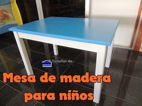 Cómo hacer una mesa de madera para niños