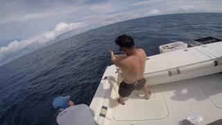 150 lb Tuna on Black hole rod