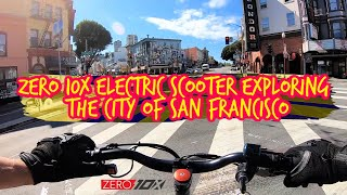 Zero 10x Electric Scooter Exploring the City of San Francisco | GoPro Hero 7 RAW Bodycam FPV Video