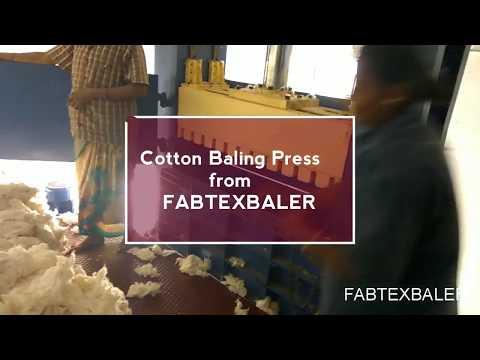Waste Cotton Baling Press