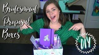DIY Bridesmaid Proposal Box Ideas | Cricut Bride