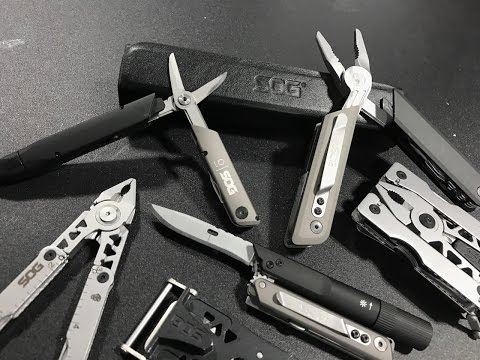 New SOG Multi-Tools: Baton-Style Q Multi-Tools With Pens, Lights, Pliers, Scissors, And More